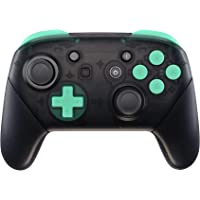eXtremeRate Mint Green Repair ABXY D-pad ZR ZL L R Keys for Nintendo Switch Pro Controller, Glossy DIY Replacement Full…