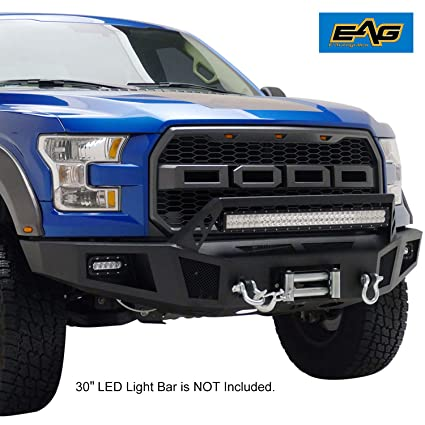 Amazon Com Eag Truck Front Bumper With Led Lightswinch Plate Off Road Grand For   Ford F  Automotive