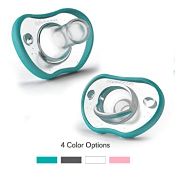 Nanobebe Pacifiers - Orthodontic, Curves Comfortably with face Contour, Award Winning for...