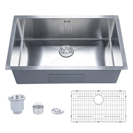 CO-Z Deep Stainless Steel Home Kitchen Single Bowl Sink with ...