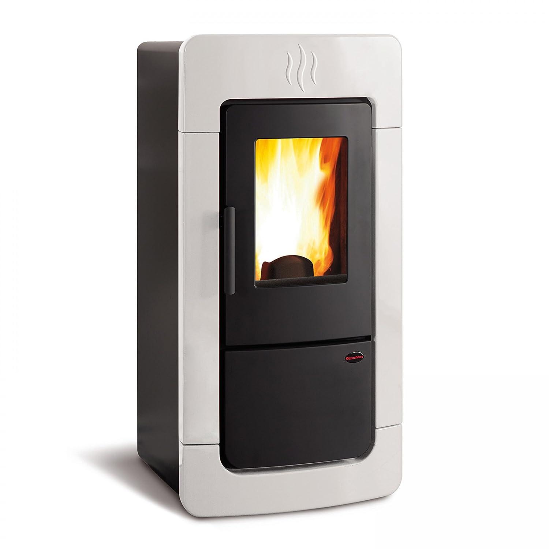 Extra de la llama de agua conductoras de pellet estufa de 28.4 kW extra de la llama Diadema Idro: Amazon.es: Hogar