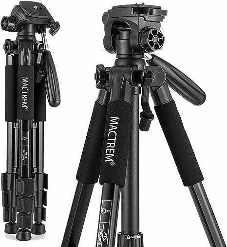 MACTREM PT55 - Trípode de Aluminio Ligero para cámaras réflex ...