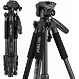 Mactrem PT55 Travel Camera Tripod Lightweight Aluminum for DSLR SLR Canon Nikon Sony Olympus DV with Carry Bag -11 lbs(5kg) L