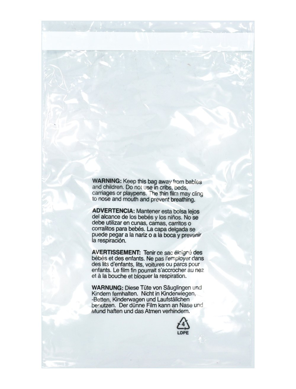 Amazon.com: Suffocation Warning Poly Bag Self Seal 1.3 Mil 200 Count (100 Ea. 6