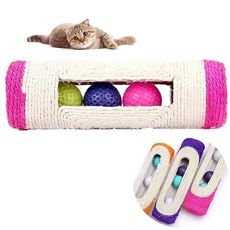 Namgiy Pelota de juguete para mascotas, juguete interactivo para gatos, pelotas de rodillo,