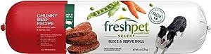 Freshpet Healthy & Natural Dog Food, Fresh Beef Roll, 6lb