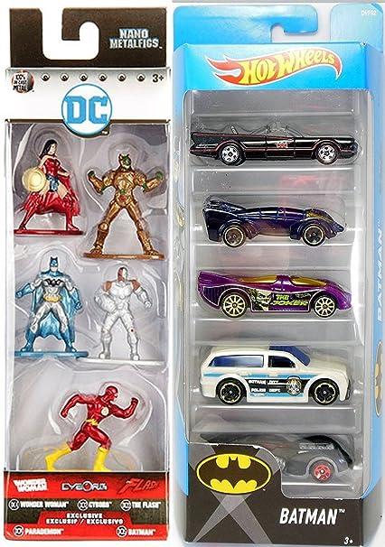 BATMAN Hot wheels action figure Flash Lot Of 2 Collectables Dc Comics