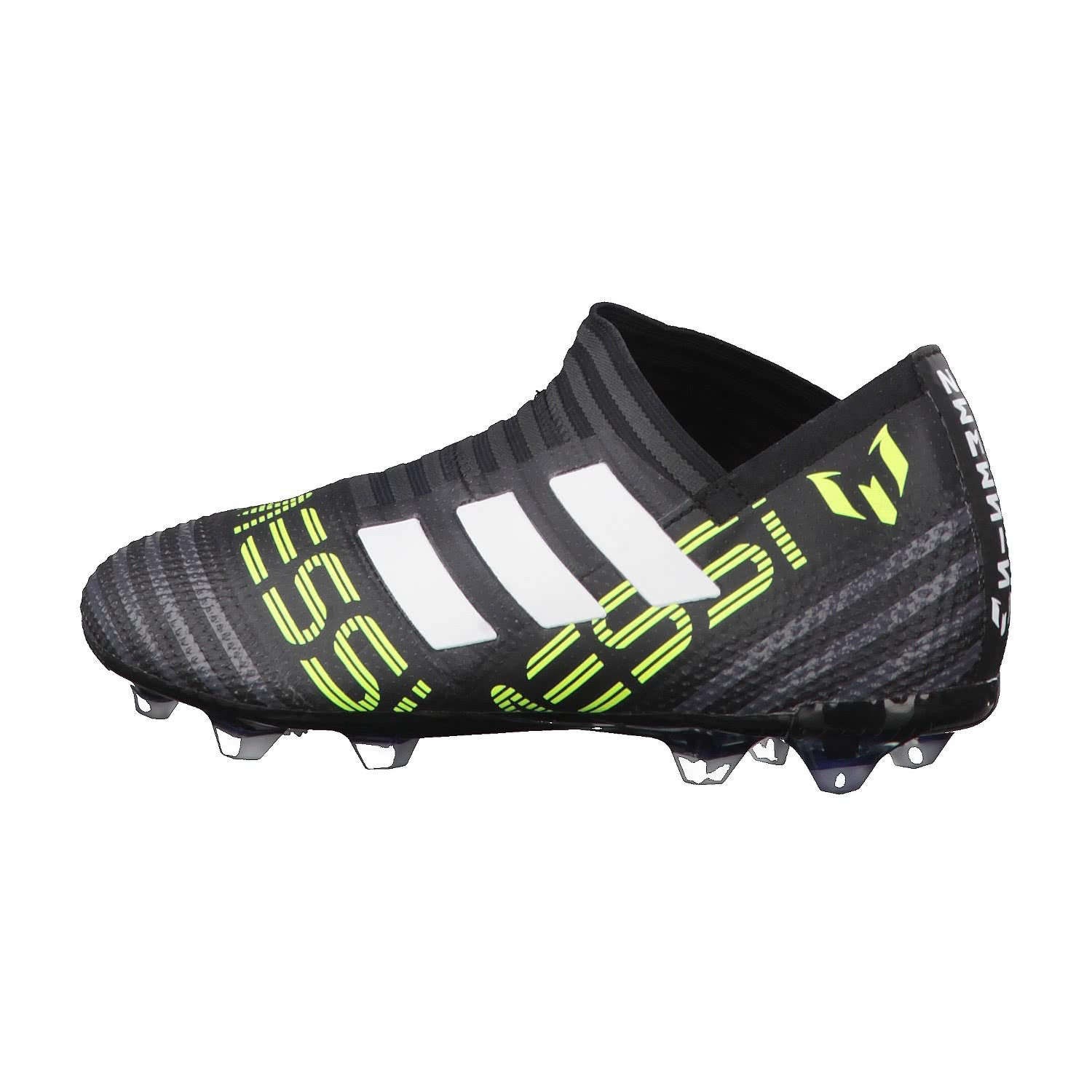 5addb544fd0 adidas Nemeziz Messi 17+ 360 Agility Kids FG Football Boots - Core  Black White Solar Yellow  Amazon.co.uk  Shoes   Bags