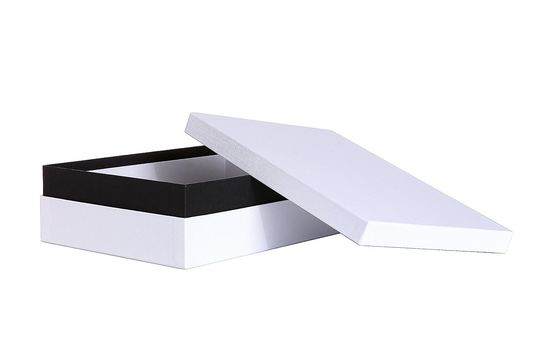 Aufbewahrungsbox Sparset sehr stabile Archivbox deutsche Manufakturarbeit von Bruno Ritter Verpackungen DIN A4 wei/ß 10er Set