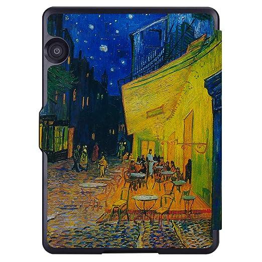 Amazon.com: Huasiru Painting Case for Amazon Kindle Voyage Cover with Auto Sleep/Wake, Coffee Shop: Computers & Accessories