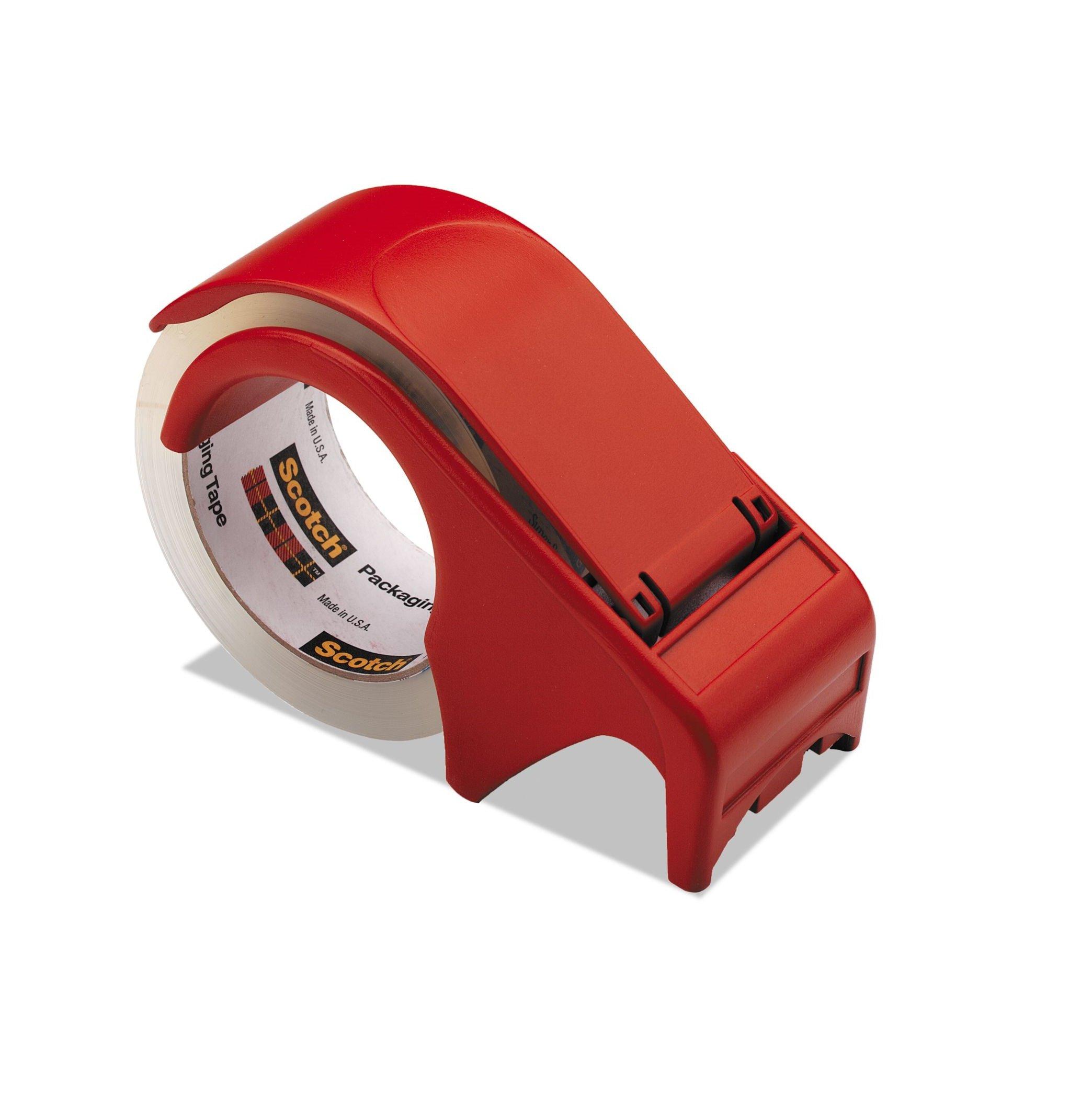 Scotch® Packaging Tape Hand Dispenser DP300-RD, 6-PACK