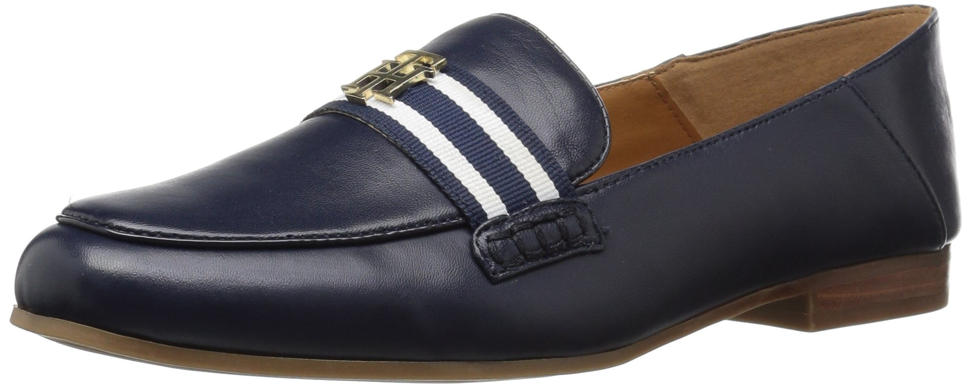 Tommy Hilfiger Women's Sheas Driving Style Loafer, Navy, 8.5 Medium US
