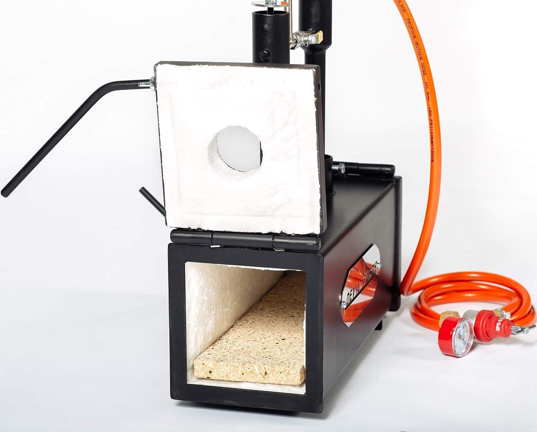 DFPROF2+2D Gas Propane Forge horno fabricaci/ón de cuchillos Herrero quemador Forja de gas propano
