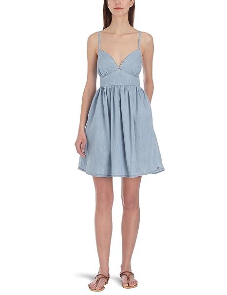 Tommy Hilfiger Hilfiger - Vestido casual para mujer, color bleu jean denim, talla 36