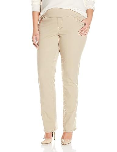 Jag Jeans Women's Plus-Size Peri Straight In Bay Twill Stone