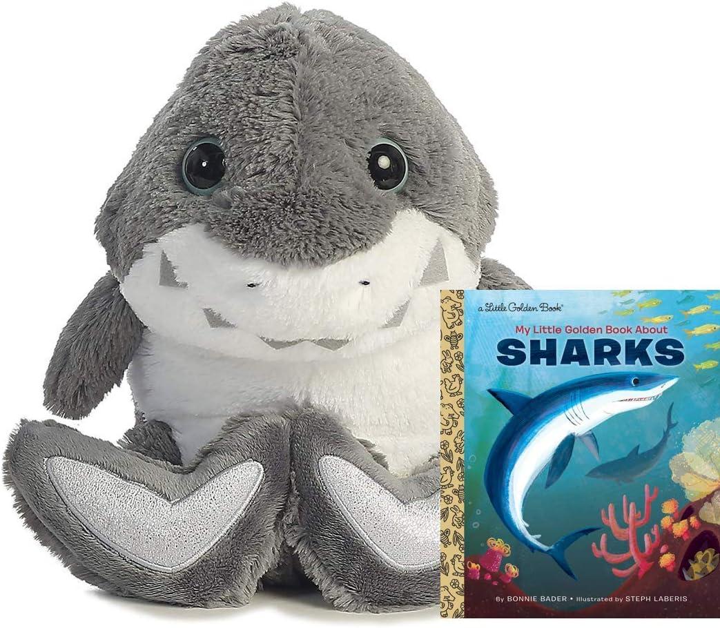 "Aurora World Taddle Toes Molars Shark 10"" Plush Gift Set"