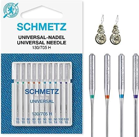 Schmetz - Agujas para máquina de coser (normal), varios tamaños 70 ...