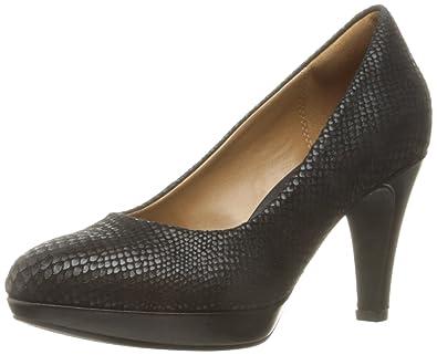 CLARKS Women's Brier Dolly Dress Pump, Black D Snake, ...