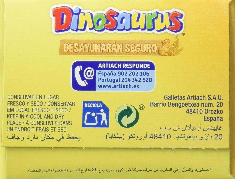 Artiach - Galletas Dinosaurus - 185 g - , Pack de 6: Amazon.es: Alimentación y bebidas