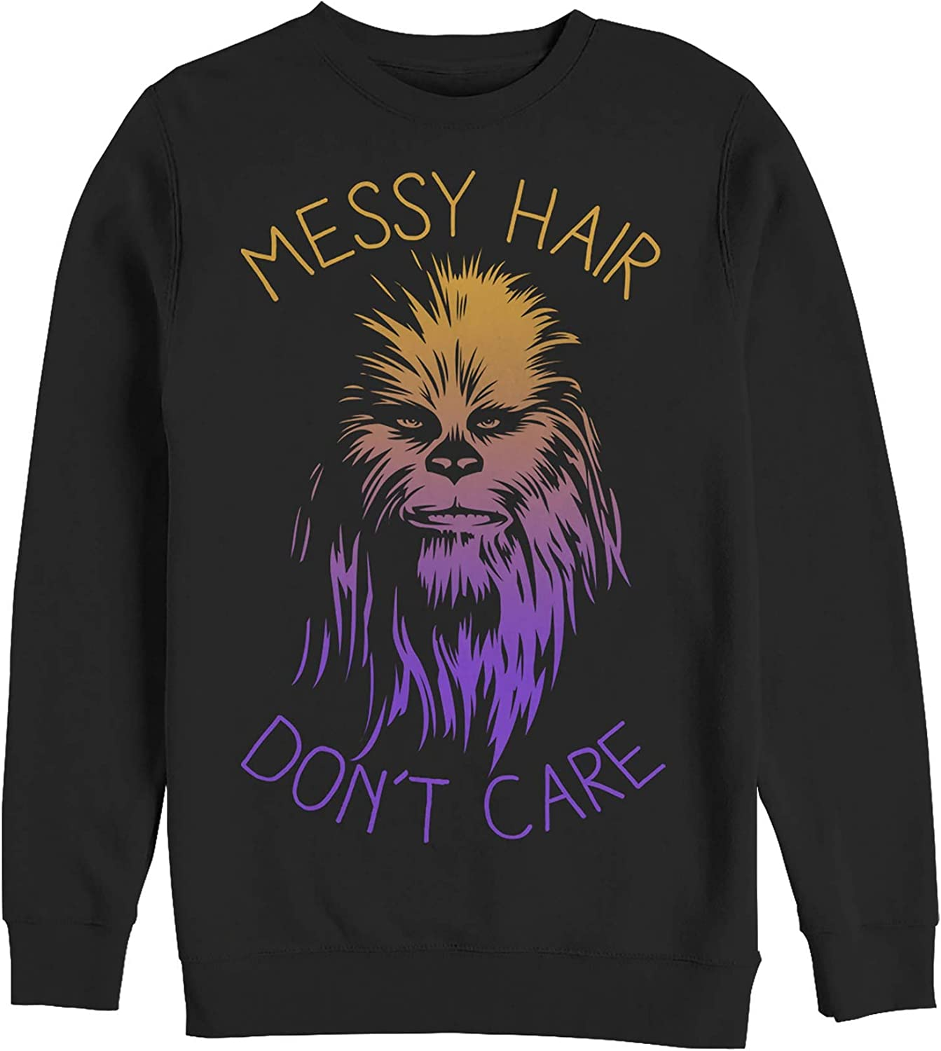 Star Wars Men's Messy Hair Don't Care Chewie Sweatshirt