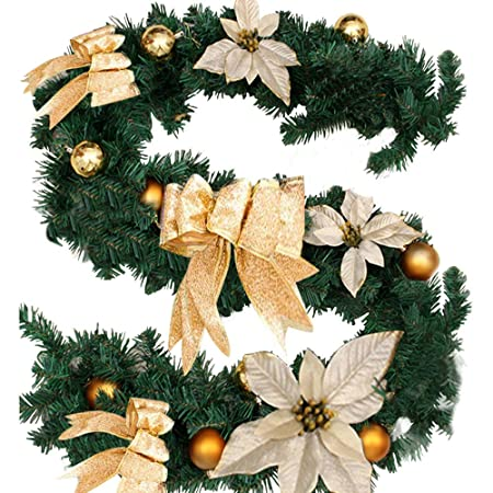 6ft //1.8M Christmas Pine Garland For Fireplaces Stairs Xmas Tree Decor Ornament