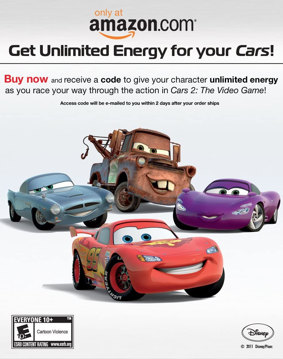 Amazon Com Cars 2 The Video Game Pc Video Games