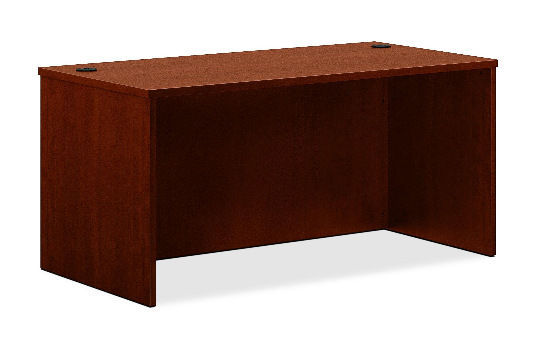 basyx by HON BL Laminate Series Office Desk Shell - Rectangular Desk Shell, 60w x 30d x 29h, Medium Cherry (HBL2103)