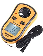 KKmoon GM8908 LCD Digital Wind Speed Temperature Measure Gauge AnemoMeter Ideal Tool for Windsurfing Sailing Fishing Kite Flying Mountaineering