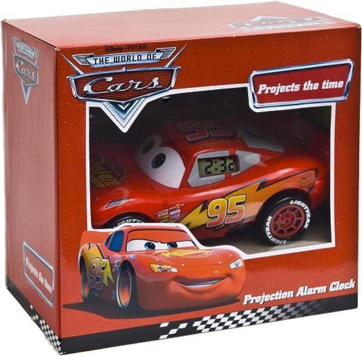 Disney Pixar Cars Rayo McQueen 3D reloj despertador con proyector ...