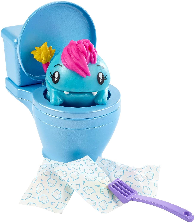 Pooparoos Animal Surprise glouton, aliment et cuvette de toilette, jouet pour enfant, modèle aléatoire, FWN06