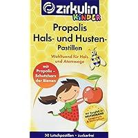 Zirkulin 2er-Pack Propolis Hals- und Hustenpastillen für Kinder, für Hals und Atemwege bei Halskratzen und Husten, mit Vitamin C für das Immunsystem und leckerem Kirscharoma (2 x 30 Pastillen)