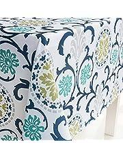 Mantel para mesa de cocina o salón, lavable, diseño de hojas, tejido Oxford, diferentes tamaños