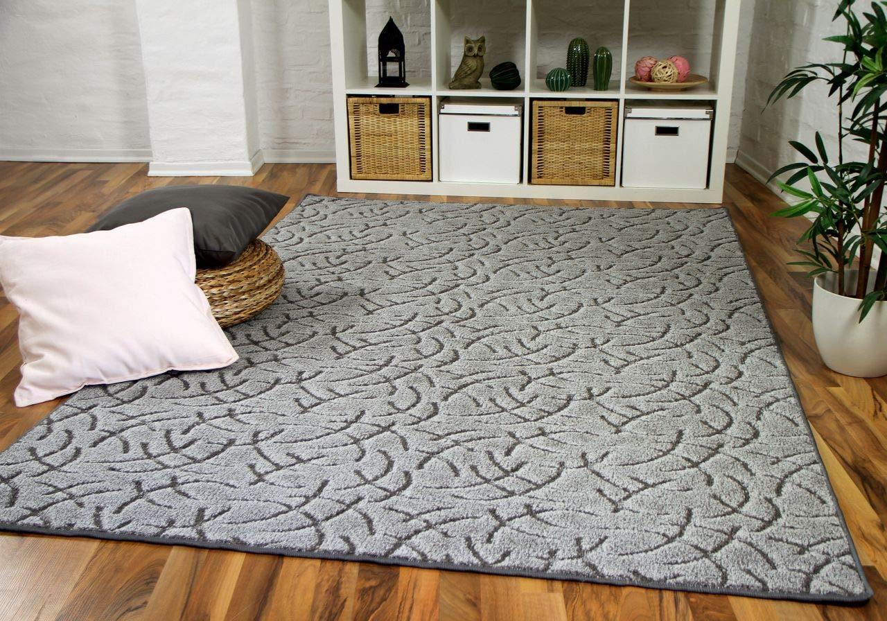 Snapstyle Konturenschnitt Hochflor Langflor Teppich Frieda Grau in 24 Größen
