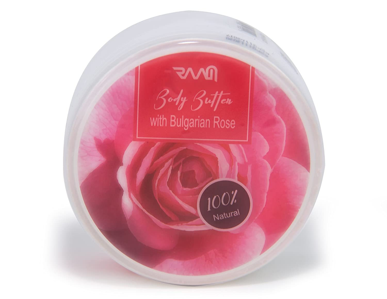 RAAM Body Butter with Bulgarian Rose - Lab Tested and Certified 100% Natural Product (250 ml)