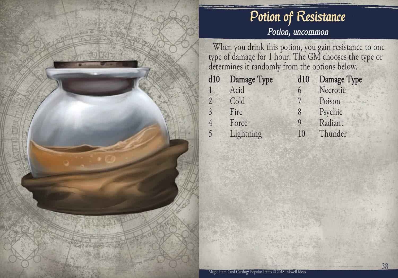 Inkwell Ideas Magic Item Card Catalog (5e): Potions & Rings