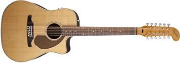 Fender 0968607021 Villager - Guitarra eléctrica (12 cuerdas), color natural