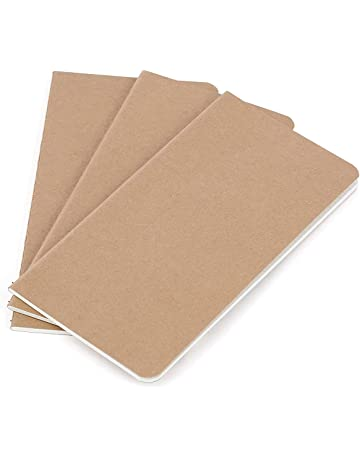 Recambio de papel para cuaderno de piel - Papel en blanco - Paquete de 3 |