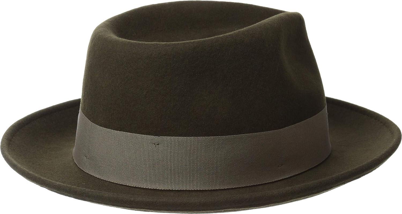 afd048eefd75e Scala Classico Men s Wool Felt Fedora with Grosgrain Hat