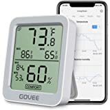 Govee Bluetooth Indoor Hygrometer Thermometer, Room Humidity and Temperature Sensor Gauge with Remote App Monitoring, Large L