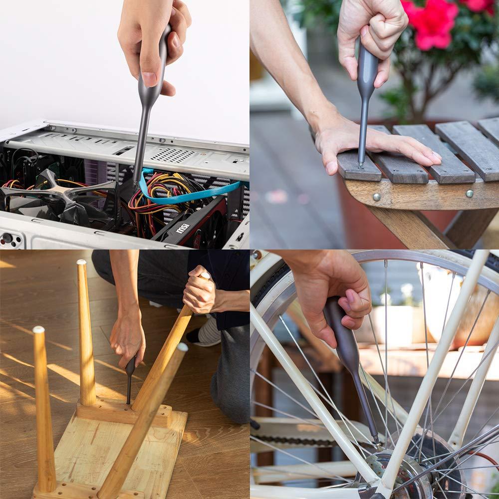 per uso domestico set di cacciaviti di precisione con 2 manici in metallo e 40 punte magnetiche multifunzione kit di riparazione per dispositivi elettronici Ruputas