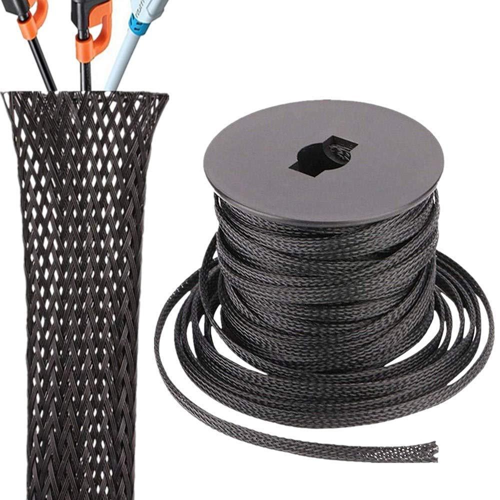 Funda de Cable Trenzado expandible Pet de 100 pies y 1/2 ...