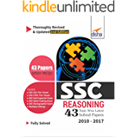 SSC Reasoning Topic-wise LATEST 43 Solved Papers (2010-2017) - 2nd Edition