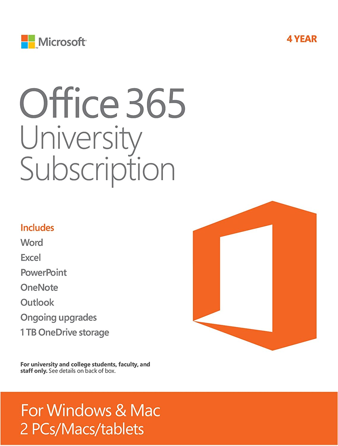 Microsoft Office 365 University 4-year Subscription (Student ...