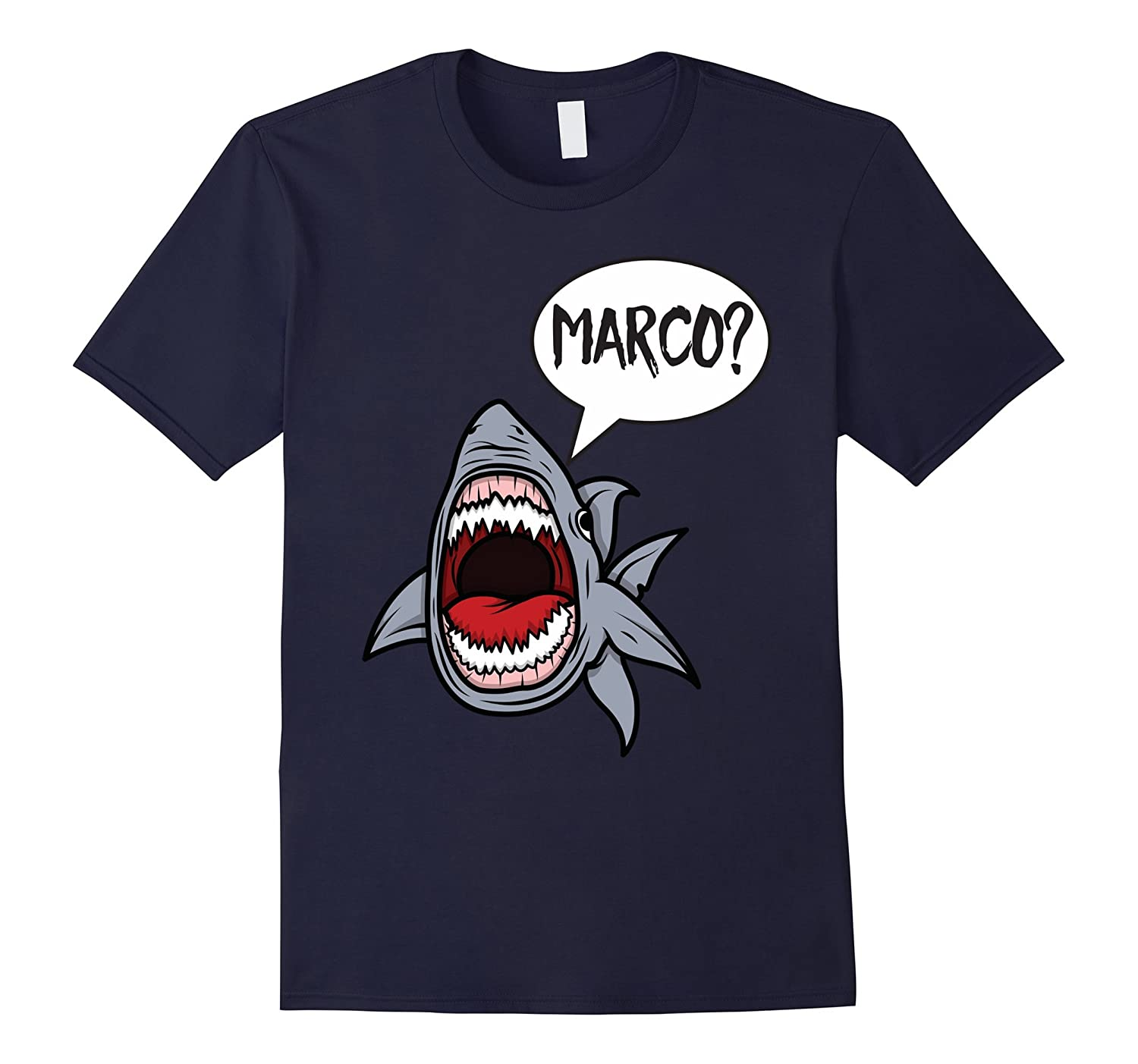 funny hungry shark playing marco polo t shirt art artshirtee. Black Bedroom Furniture Sets. Home Design Ideas