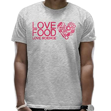 ca0381bee LAPAD7 What Is Love Food Love Science Mens T-Shirt Fashion Graphic ...