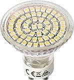 SEBSON® 4 x Ampoules LED 3.5W (remplace 30W) - Culot GU10 - Angle du faisceau 110° - Blanc chaud - 300lm