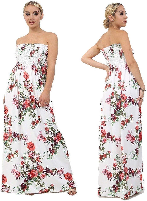 Ladies Sheering Boob Tube Bandeau Long Maxi Fashion Designer Dress Top Plus Size At Amazon Women S Clothing Store