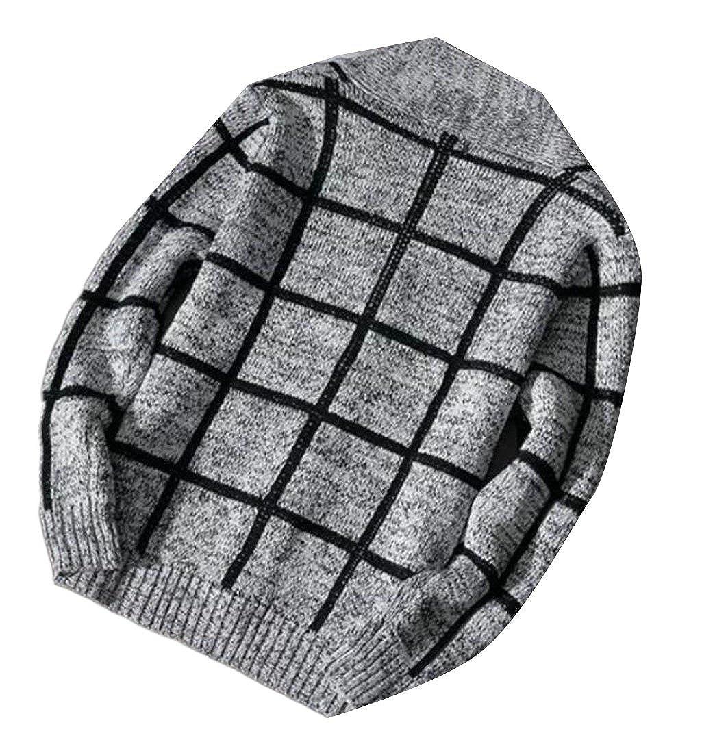 Zantt Mens Button Down Knit Striped Shawl Collar Outwear Sweater Cardigan
