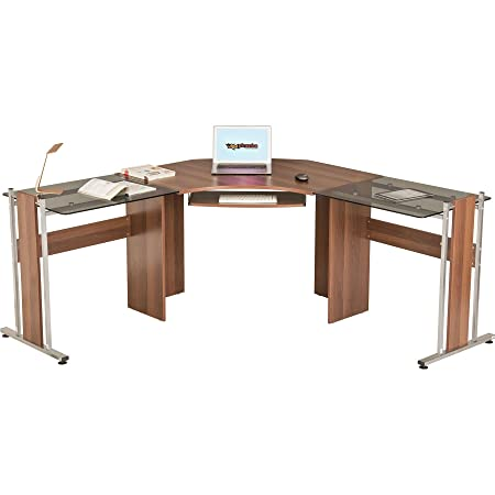 Scrivanie Angolari Da Ufficio.Grande Scrivania Angolare Tavolo Da Ufficio Con Vetro Ali Per Home
