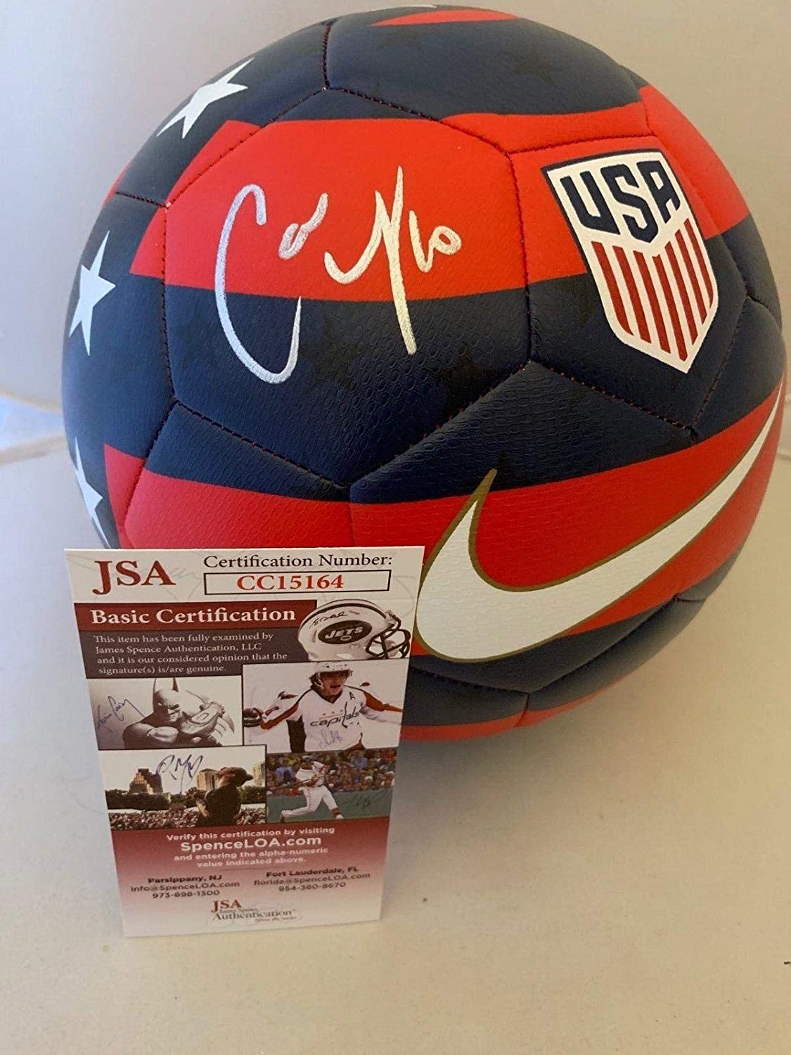 Carli Lloyd signed Size 5 Nike USA Prestige Soccer Ball Team USA Womens -  JSA Certified - Autographed Soccer Balls at Amazon s Sports Collectibles  Store 0fbc5fb5b